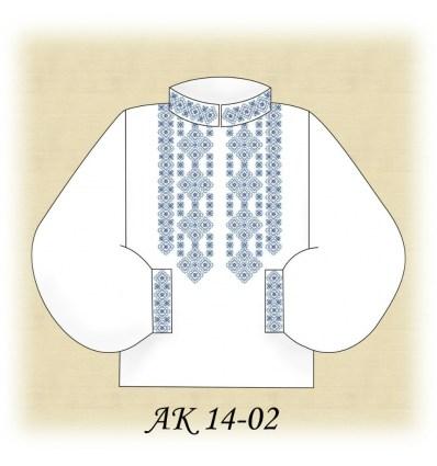 Заготовка чоловічої сорочки АК 14-02