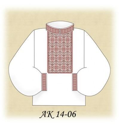 Заготовка мужской рубашки АК 14-06