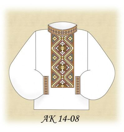 Заготовка чоловічої сорочки АК 14-08