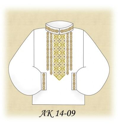 Заготовка чоловічої сорочки АК 14-09