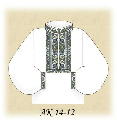 Заготовка чоловічої сорочки  АК 14-12