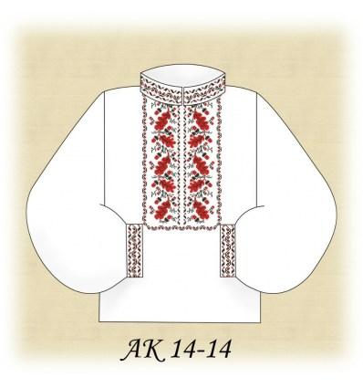 Заготовка мужской рубашки АК 14-14