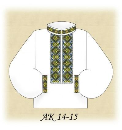 Заготовка мужской рубашки АК 14-15