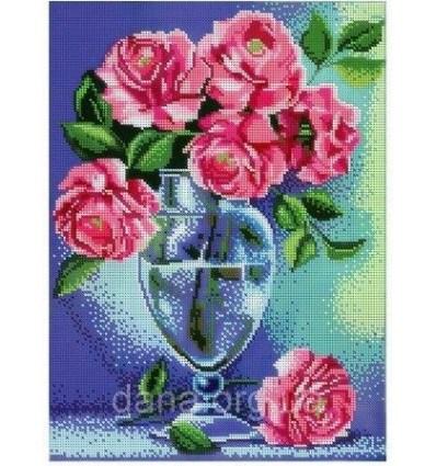 Розы в вазе DANA-385