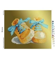 Ботиночки/голубые/ ЧВ-3177
