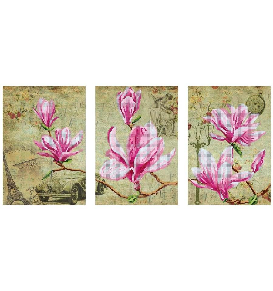 Вишивка бісером Триптих Цвіт магноліх DANA-48 купити недорого в інт... f513945dee0db