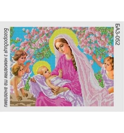 Богородица с младенцем и ангелами БАЗ-052