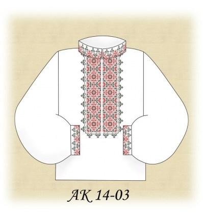 Заготовка мужской рубашки (домотканое) АК 14-03