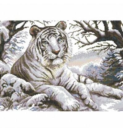 Вишивка бісером Білий тигр ЧВ 50-331