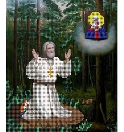Серафим Саровский молится на камне МЦ4-013