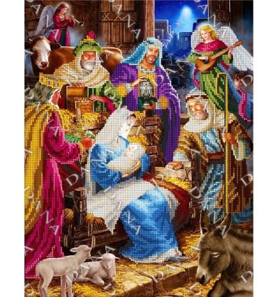 Вышивка бисером икона Рождество Dana-3479