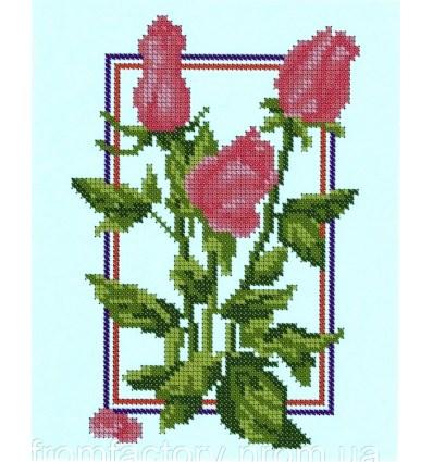 Розовые розы БА4-035