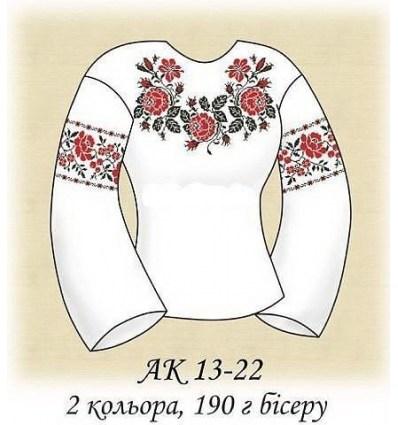 Заготовка блузки АК 13-22