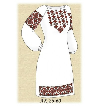 Заготовка платья АК 26-60