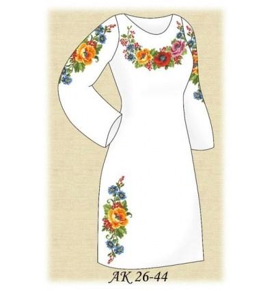 Заготовка платья АК 26-44