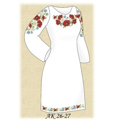 Заготовка платья АК 26-27