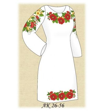 Заготовка платья АК 26-56