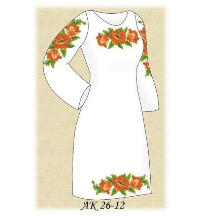 Заготовка платья АК 26-12
