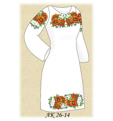 Заготовка платья АК 26-14