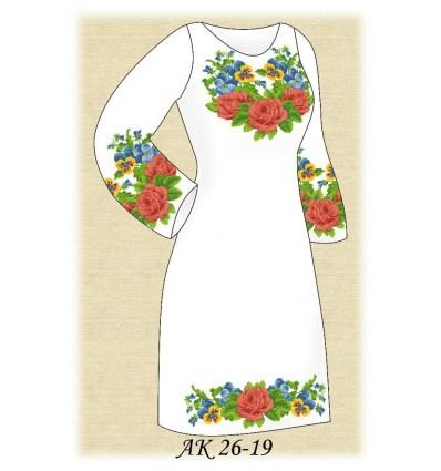 Заготовка платья АК 26-19