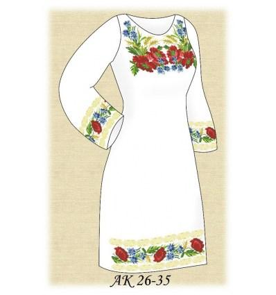 Заготовка платья АК 26-35