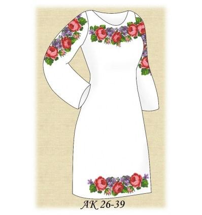 Заготовка платья АК 26-39