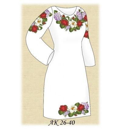 Заготовка платья АК 26-40
