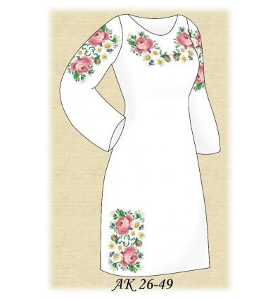 Заготовка платья АК 26-49