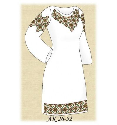 Заготовка платья АК 26-52