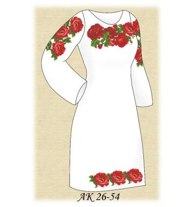 Заготовка платья АК 26-54