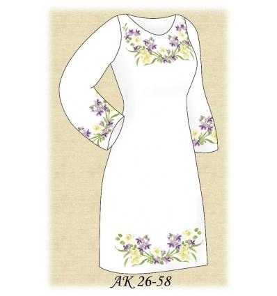 Заготовка платья АК 26-58
