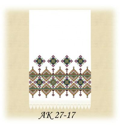 Заготовка рушника АК  27-17