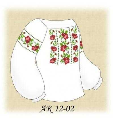 Заготовка детской блузки АК 12-02