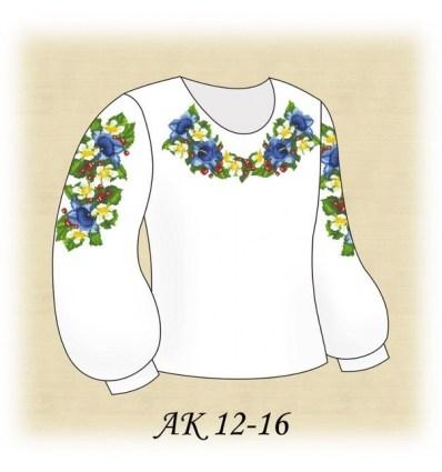 Заготовка дитячої блузки АК 12-16