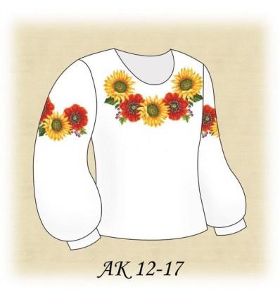 Заготовка дитячої блузки АК 12-17