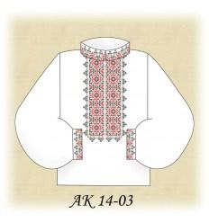 Заготовка мужской рубашки АК 14-03