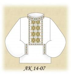 Заготовка мужской рубашки АК 14-07