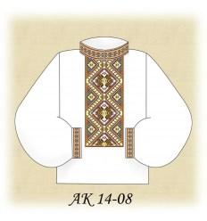 Заготовка мужской рубашки АК 14-08