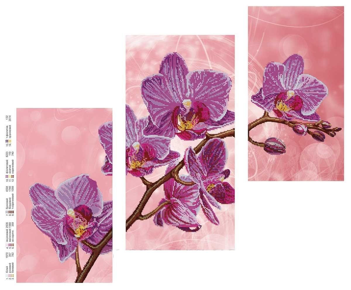 Схема вышивка бисер орхидея 696