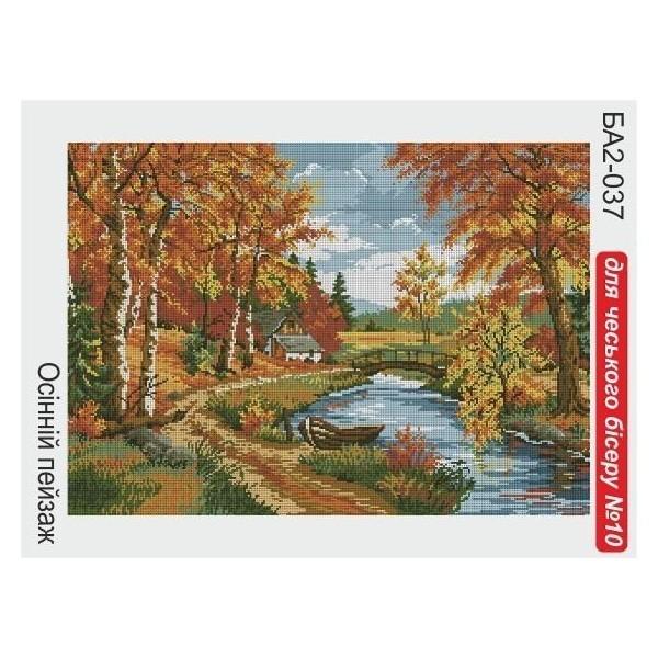 Схемы вышивок бисером пейзаж осень